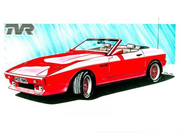 TVR 350 tasmin red