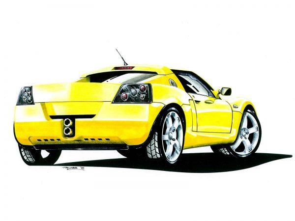 Vauxhall VX220 rear