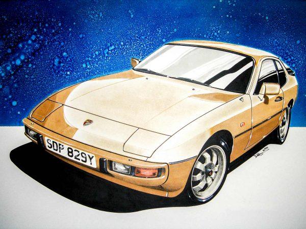 Porsche 924 Gold