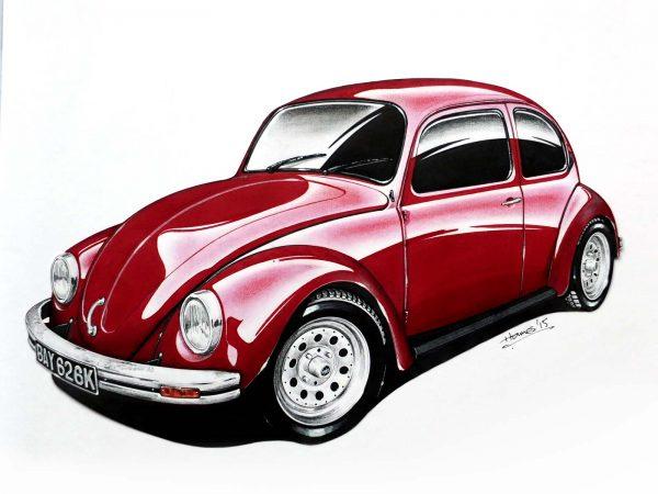 VW Beetle Crimson