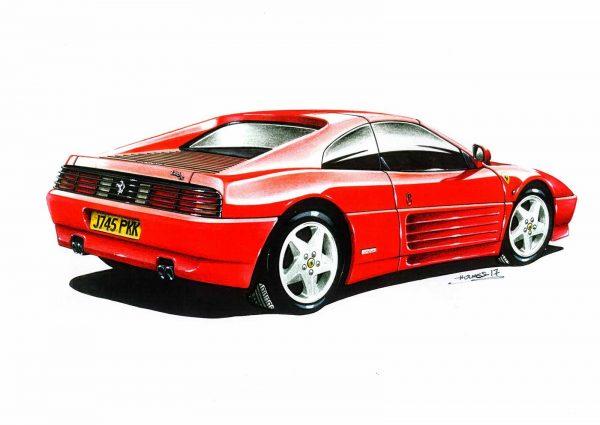 Ferrari 348 rear