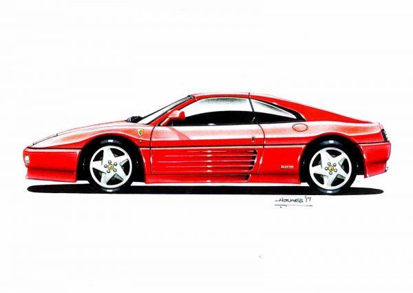 Ferrari 348 side